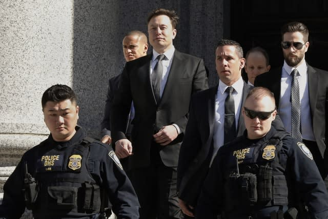 Elon Musk leaving court