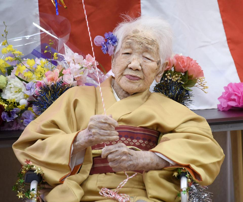 <p>Kane Tanaka celebrated her 118th birthday in January</p> (REUTERS)