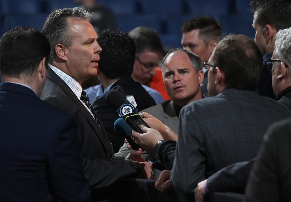 BUFFALO, NY - JUNE 25: General manager Kevin Cheveldayoff of the Winnipeg Jets speaks to the media during the 2016 NHL Draft at First Niagara Center on June 25, 2016 in Buffalo, New York. (Photo by Dave Sandford/NHLI via Getty Images)