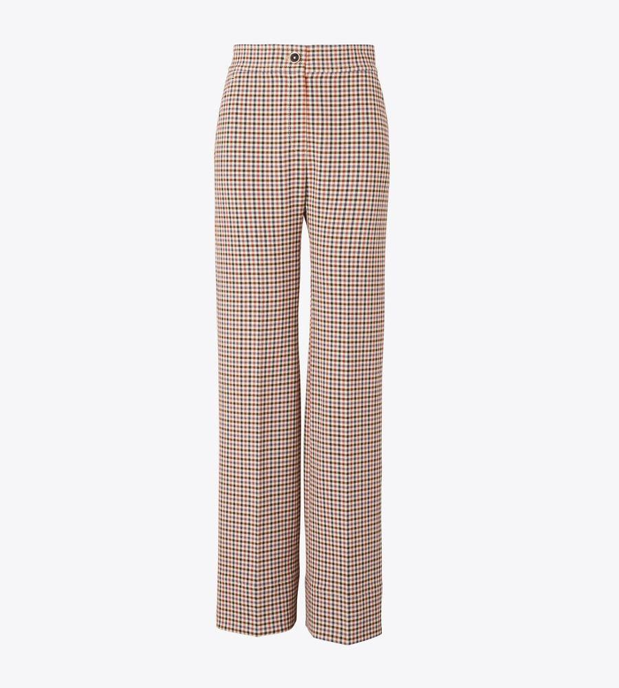 """<p><strong>Tory Burch</strong></p><p>toryburch.com</p><p><a href=""""https://go.redirectingat.com?id=74968X1596630&url=https%3A%2F%2Fwww.toryburch.com%2Fen-us%2Fclothing%2Fbottoms%2Fplaid-wide-leg-pant%2F57529.html&sref=https%3A%2F%2Fwww.townandcountrymag.com%2Fstyle%2Fg37340584%2Fshop-the-best-deals-from-tory-burchs-private-sale%2F"""" rel=""""nofollow noopener"""" target=""""_blank"""" data-ylk=""""slk:Shop Now"""" class=""""link rapid-noclick-resp"""">Shop Now</a></p><p><strong><del>$498</del> $199 (60% off)</strong></p><p>Take your revenge dressing to the next level with these statement-making trousers. </p>"""