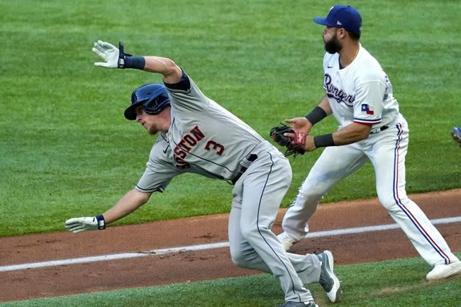 Five-run 7th inning powers Rangers past Astros 6-1
