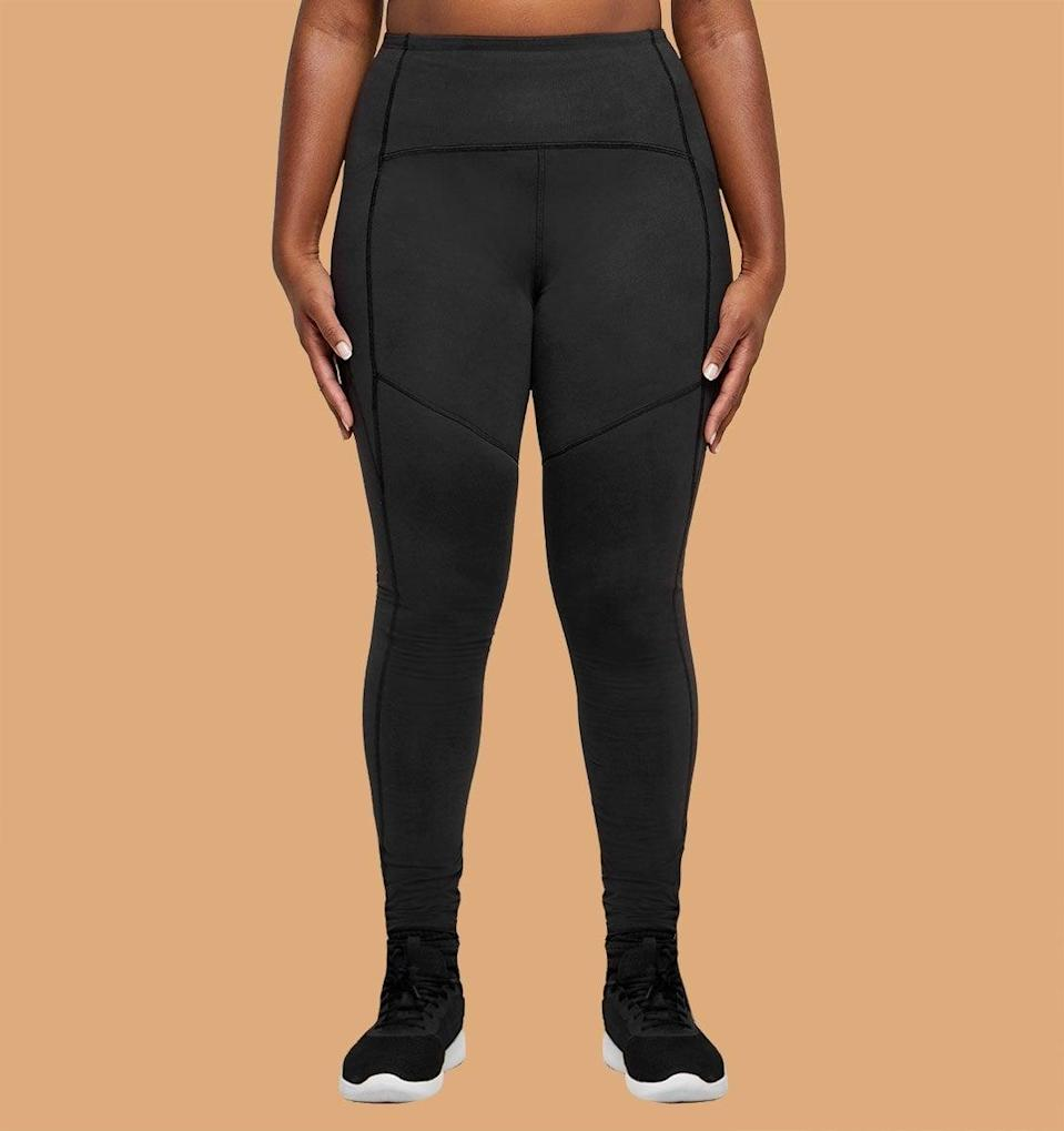 <p>These <span>Thinx Leggings</span> ($95) are available in black and kale, in sizes XS-XL, and have all the features of a really great pair of workout pants - and then some! On top of the fact that they can absorb as much blood as three tampons, they're high-waisted and made with side pockets perfect for stashing your keys, credit card, or face mask. And when cramps strike, they even have a pocket meant for a heating pad in the front.</p>