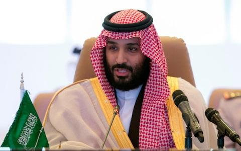 The report was published shortly before Crown Prince Mohammed bin Salman arrives in the US for meetings with the Trump administration - Credit: AFP PHOTO / Saudi Royal Palace / BANDAR AL-JALOUD