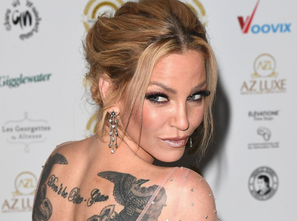Sarah Harding has died aged 39 after battling breast cancer. (Getty Images)