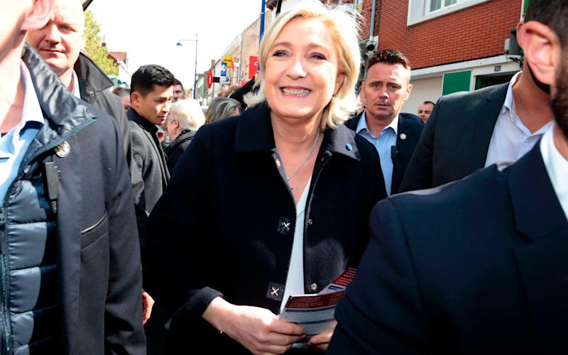 French presidential election candidate Marine Le Pen  - Credit: AFP