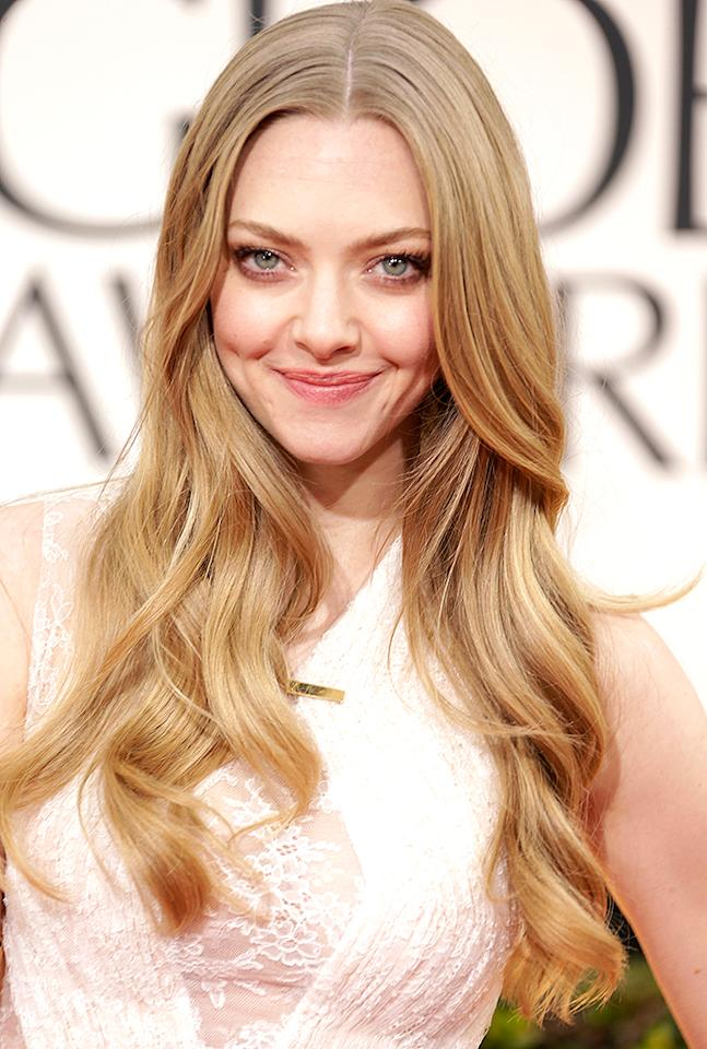 Amanda Seyfried  arrives at the 70th Annual Golden Globe Awards at the Beverly Hilton in Beverly Hills, CA on January 13, 2013.