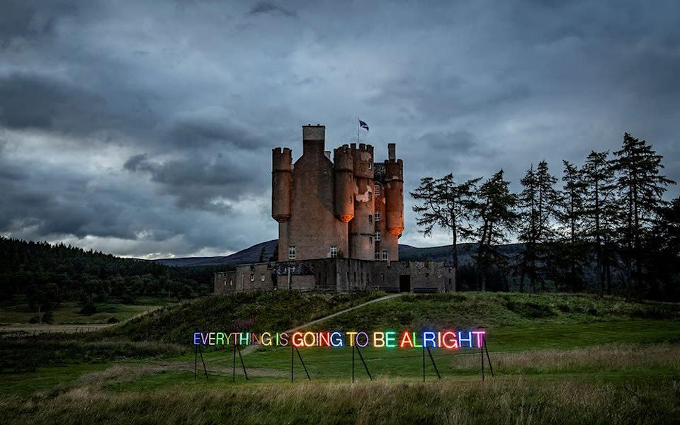 Braemar Castle - MARTIN CREED. ALL RIGHTS RESERVED, DACS 2020; PHOTO: SIM CANETTY-CLARKE
