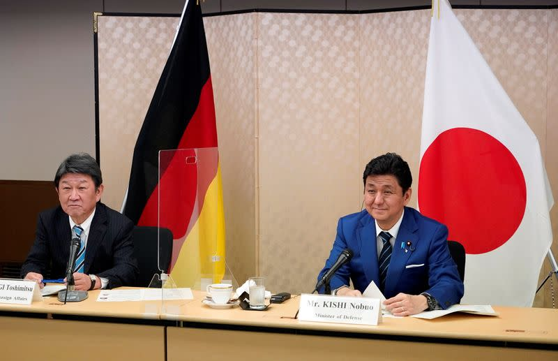 Japan and Germany Foreign and Defence Ministerial Meeting 2+2 video conference