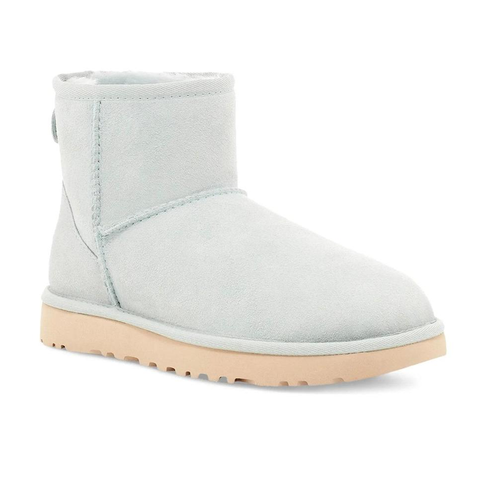 """The Ugg revival is real, so it's only right to bring this cozy pair into your style rotation. $150, Nordstrom. <a href=""""https://www.nordstrom.com/s/ugg-classic-mini-ii-genuine-shearling-lined-boot-women/5871219?"""" rel=""""nofollow noopener"""" target=""""_blank"""" data-ylk=""""slk:Get it now!"""" class=""""link rapid-noclick-resp"""">Get it now!</a>"""