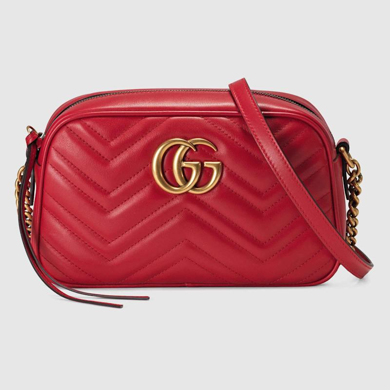 96e29b231 View photos. Gucci GG Marmont Small Matelassé Shoulder Bag ...