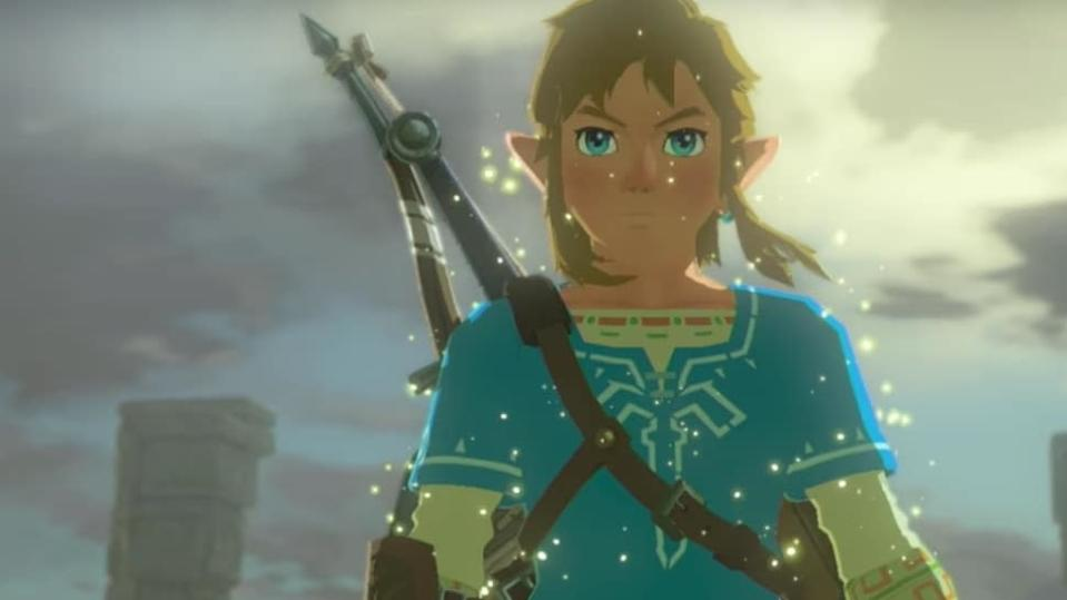A CG Link with a bow in Legend of Zelda: Breath of the Wild