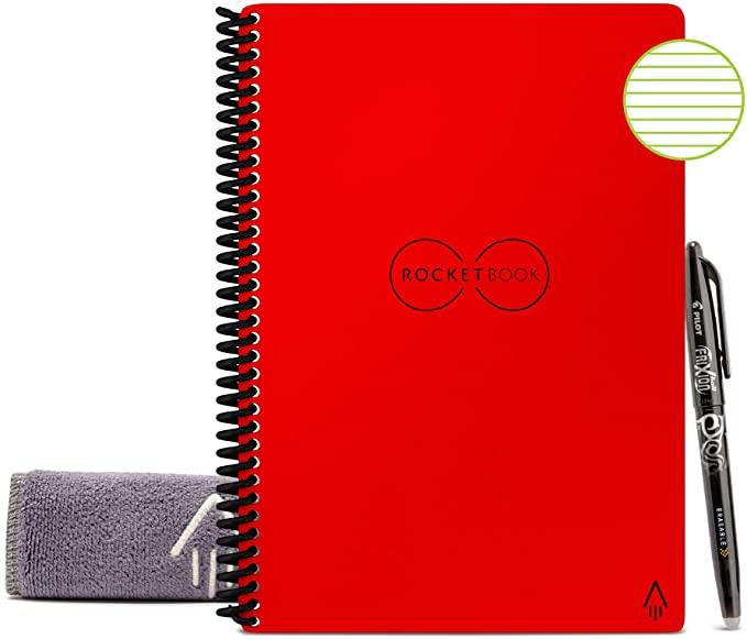 Rocketbook Smart Reusable Notebook - Lined Eco-Friendly Notebook. (Image via Amazon)