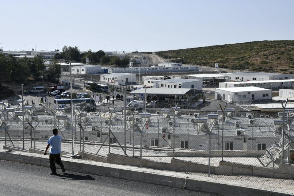 """<span class=""""caption"""">A view of the new multi-purpose reception and identification migrant centre which is on the eastern Aegean island of Samos, Greece.</span> <span class=""""attribution""""><span class=""""source"""">(AP Photo/Michael Svarnias) </span></span>"""