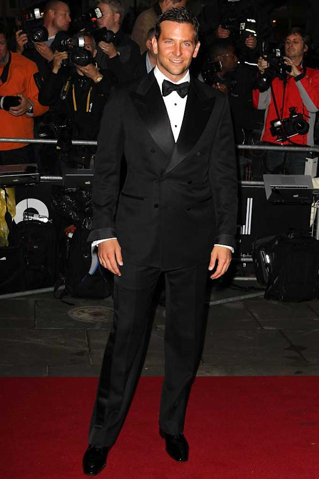 """Bradley Cooper looked quite dapper as he arrived at London's Royal Opera House, where the GQ Man of the Year Awards was held on Monday night. The """"Hangover"""" star received the International Male award. We're not sure what that means, exactly, but it sounds like an impressive title. Fred Duval/<a href=""""http://www.filmmagic.com/"""" target=""""new"""">FilmMagic.com</a> - September 6, 2011"""