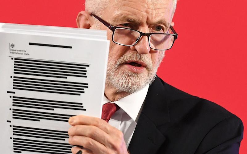 Jeremy Corbyn used the documents to attack the Government - Andy Rain/EPA-EFE/Rex