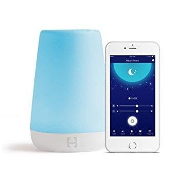 """<p>The <span>Hatch Baby Rest</span> ($60) is a nightlight that enables parents to set light programs based on their babies' schedule. It's synced to a phone via Bluetooth, so you can make adjustments as needed without stepping inside the bedroom. Our director loves how it also has a time to rise program to <a href=""""https://www.popsugar.com/family/Hatch-Baby-Rest-Review-45367396"""" class=""""link rapid-noclick-resp"""" rel=""""nofollow noopener"""" target=""""_blank"""" data-ylk=""""slk:help her toddler know when to get out of bed in the morning"""">help her toddler know when to get out of bed in the morning</a>.</p>"""