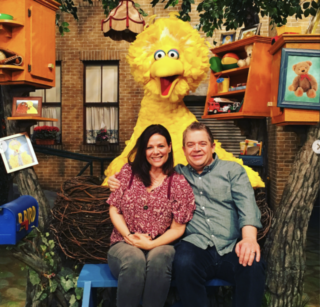 "<p>""Sesame Street!!!! The best day ever!!!!"" <a href=""https://www.yahoo.com/entertainment/patton-oswalt-meredith-salenger-married-175706823.html"" data-ylk=""slk:Patton Oswalt's new bride;outcm:mb_qualified_link;_E:mb_qualified_link"" class=""link rapid-noclick-resp newsroom-embed-article"">Patton Oswalt's new bride</a> captioned a photo of her and her new man posing with Big Bird. ""Today is my one month anniversary and my Husband brought me to Sesame Street to celebrate!!!! I literally burst into tears when I walked in and met all my favorite guys!!! I'm in heaven!!!!"" (Photo: <a href=""https://www.instagram.com/p/BcS8BoiDWqk/?hl=en&taken-by=meredithsalenger"" rel=""nofollow noopener"" target=""_blank"" data-ylk=""slk:Meredith Salenger via Instagram"" class=""link rapid-noclick-resp"">Meredith Salenger via Instagram</a>) </p>"