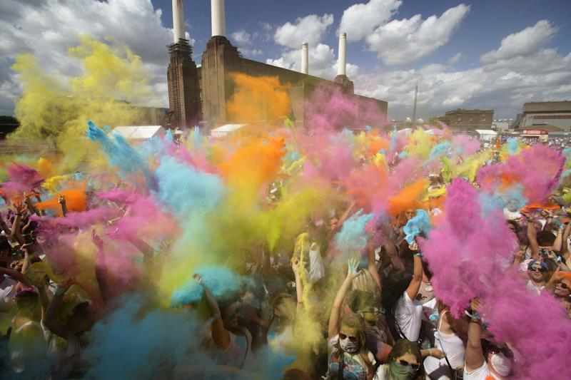 The London Holi One Festival at London's Battersea Power Station - Credit: PA