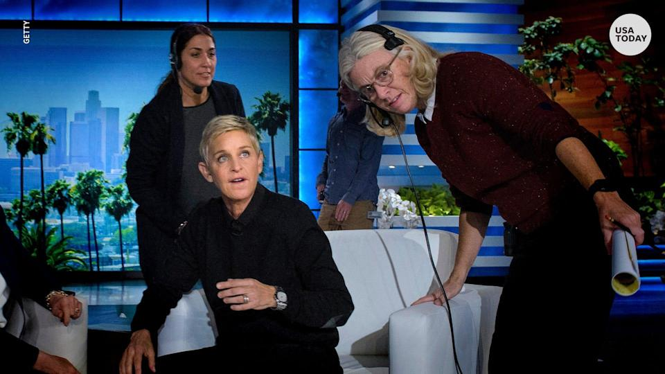 Ellen DeGeneres on the set of