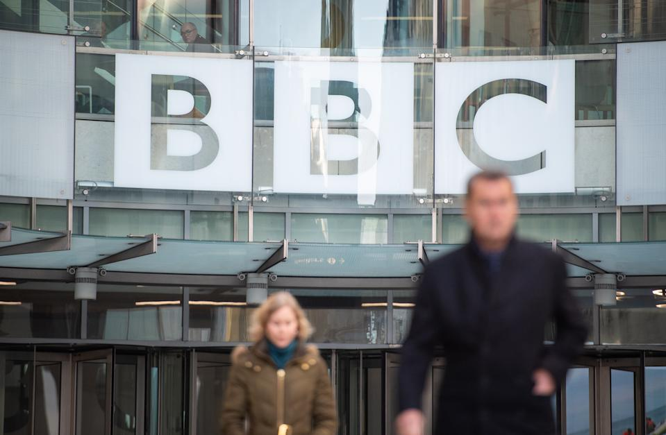 A general view of BBC Broadcasting House, at Portland Place, London, following BBC Director General Tony Hall's announcement that he intends to step down in the summer. (Photo by Dominic Lipinski/PA Images via Getty Images)