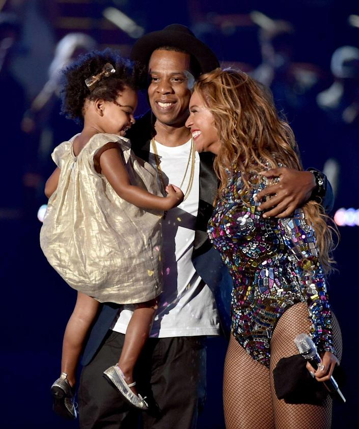 <p>Jay Z and Beyonce's first child, Blue Ivy Carter, was born on January 7, 2012.</p>