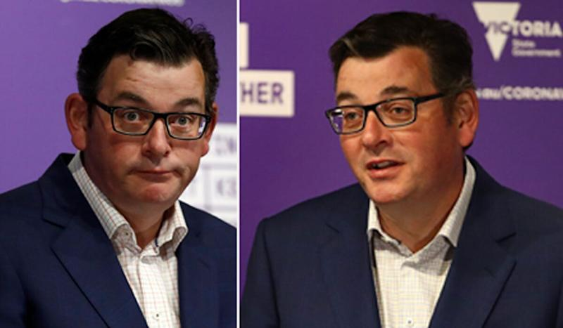 Victoria Premier Daniel Andrews' daily press conference routine has been turned into a supercut on Twitter. (Photo: Getty)