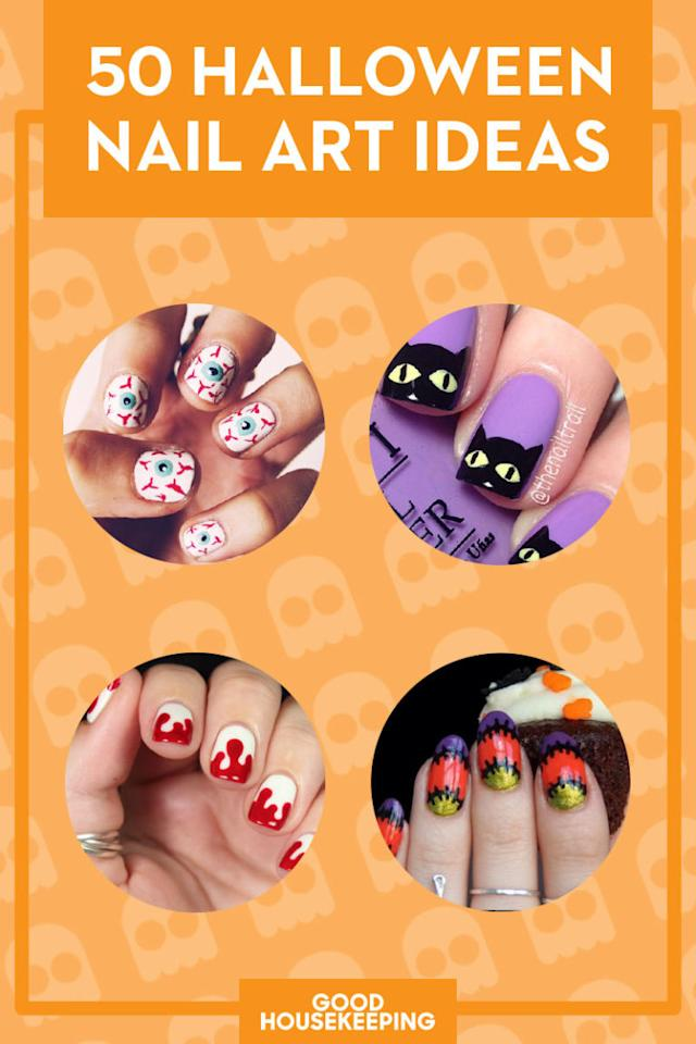 <p>Save all your favorite spooky looks for Halloween by pinning this handy graphic.</p>