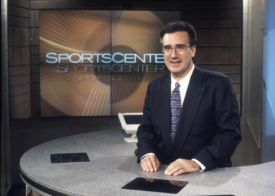 Keith Olbermann on the SportsCenter set in 1996. ESPN has changed since then, but it's about to change a lot more. (Olbermann left ESPN in 2015.) Photo via AP