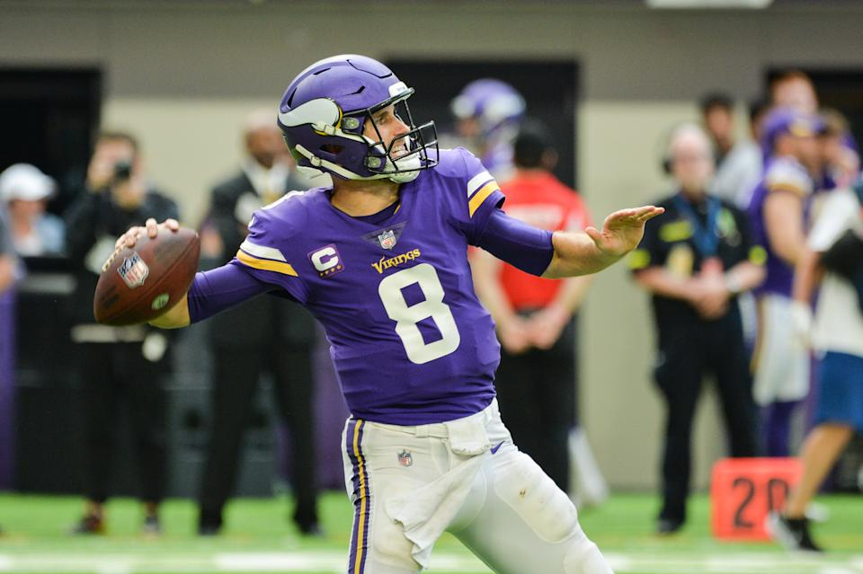 Kirk Cousins and the 1-3 Minnesota Vikings face a must-win game at home versus the ailing Detroit Lions. (Jeffrey Becker/USA TODAY Sports)