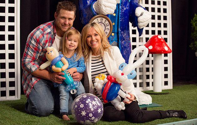 Stuart, Sarah and Frankie at the Seven Telethon earlier this year. Image: Supplied