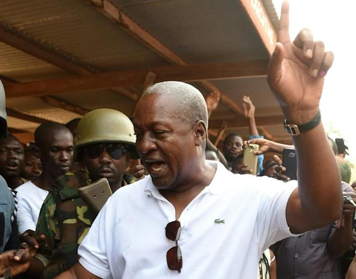 John Mahama, seen in 2016, faced a series of corruption allegations