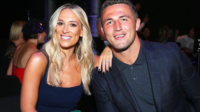 Phoebe and Sam Burgess, pictured here at the David Jones Autumn Winter 2018 Collections Launch.