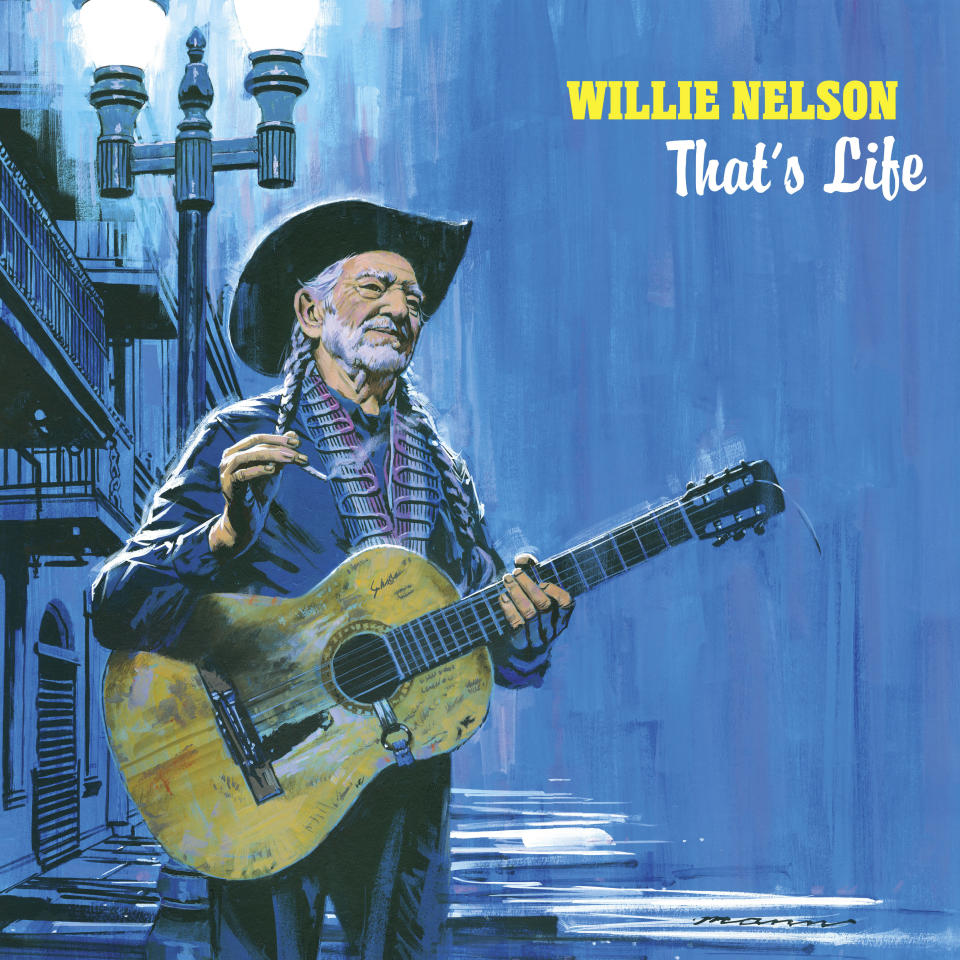 "This cover image released by Legacy Recordings shows ""That's Life"" by WIllie Nelson, a collection of standards and classics made famous by Frank Sinatra. (Legacy Recordings via AP)"