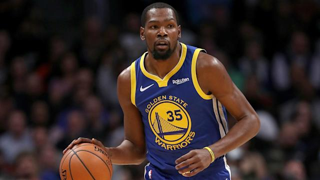 Kevin Durant dismissed suggestions the Golden State Warriors pressured him to play against the Toronto Raptors.