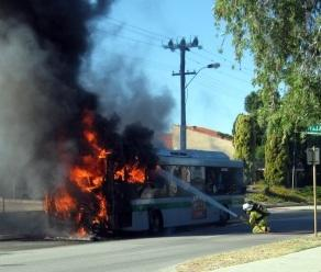 Legal action on gas bus fires