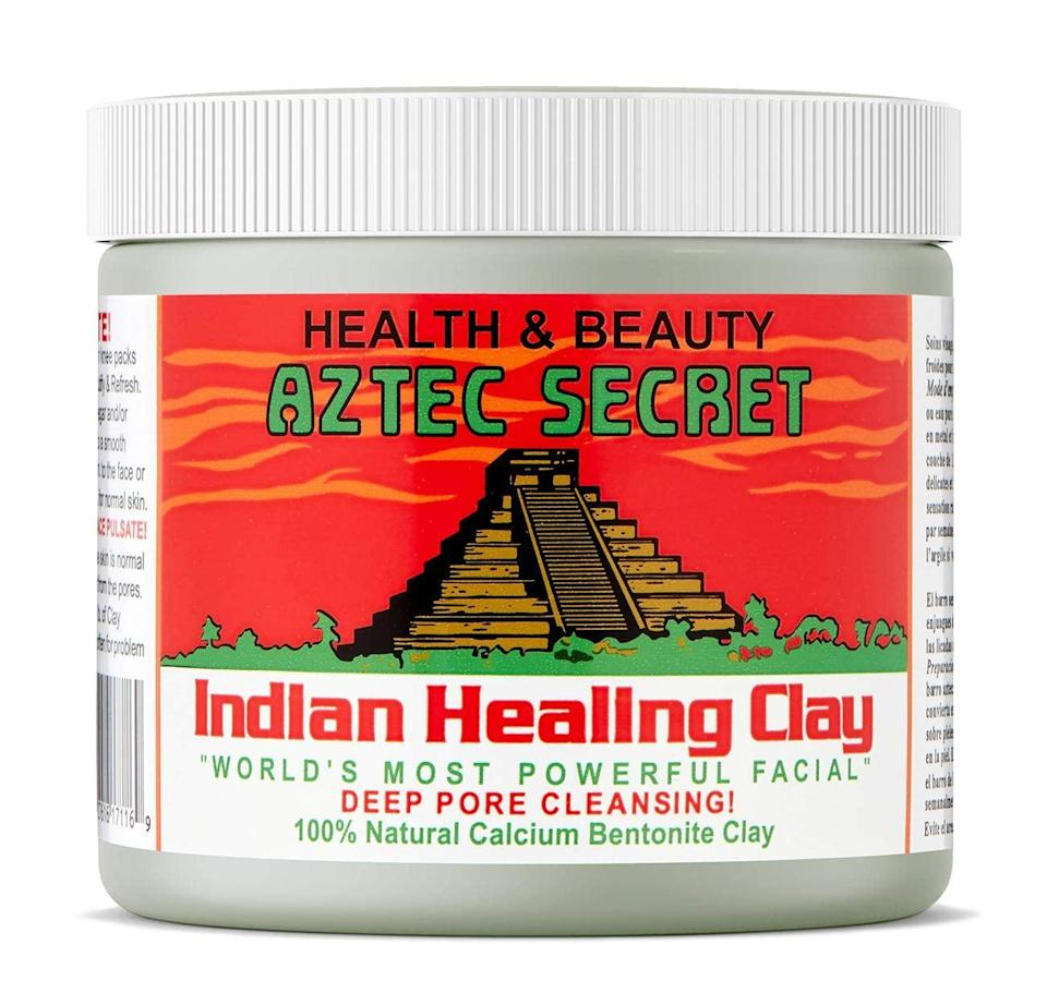 """<p>""""<span>Aztec Secret Indian Healing Clay</span> ($12) has a tried-and-true formula that has worked for countless people with acne-prone skin. The mask is made with 100 percent natural calcium bentonite, which is a green clay that's incredibly absorbent. More than 15,000 customers have reviewed the product, and 70 percent of users give it five stars. That's a pretty spectacular reputation.</p> <p><a href=""""https://www.popsugar.com/beauty/Aztec-Secret-Clay-Mask-Amazon-44565948"""" class=""""link rapid-noclick-resp"""" rel=""""nofollow noopener"""" target=""""_blank"""" data-ylk=""""slk:I tried the mask"""">I tried the mask</a> myself and was very pleased with the results. When you open the jar, you will find a powdered clay that you mix with equal parts apple cider vinegar or water - it's up to you. Many customers claim that the vinegar will give you more effective results. You stir until you get a thick yet smooth paste that you can put on your face with your fingers or a brush. Allow the mask to dry. Here's the important part: if you have sensitive skin, only leave it on for five minutes. Any longer and you may experience irritation. If you have normal skin, you can leave it on for 15 to 20 minutes. As it dries, you will feel your skin tightening - that's a good thing. Wash it off with warm water once you're finished. You may look a little red after you take the mask off, but that should go away in 15 minutes or so.</p> <p>I used the mask three times in one week, and I didn't get a single zit. My skin felt baby soft, and it was the clearest it had been in months. Many fans of the product claim that it has been a miracle worker for their severe acne."""" - MCW</p>"""