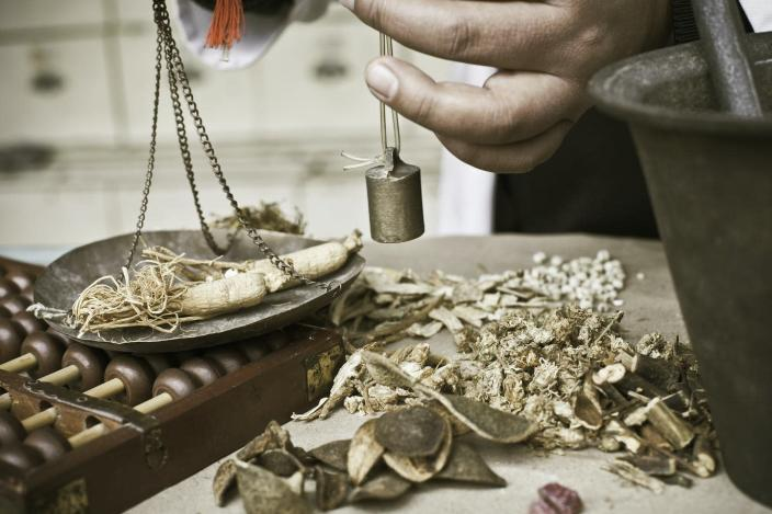"""<span class=""""caption"""">Poisons have been used in traditional Chinese medicine for over two millennia.</span> <span class=""""attribution""""><a class=""""link rapid-noclick-resp"""" href=""""https://www.gettyimages.com/detail/photo/chinese-herbal-medicine-royalty-free-image/157691909"""" rel=""""nofollow noopener"""" target=""""_blank"""" data-ylk=""""slk:4X-image/E+ via Getty Images"""">4X-image/E+ via Getty Images</a></span>"""