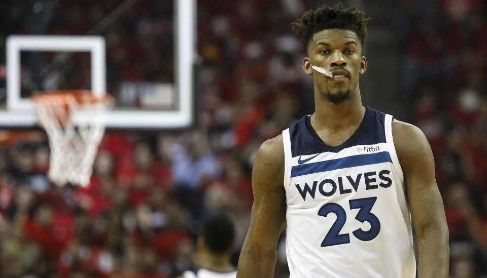 Jimmy Butler reportedly wants out of Minnesota. (Getty)