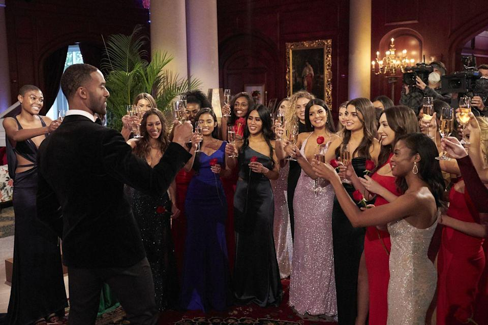 """<p>According to Sean's book, contestants have to pack <a href=""""https://www.bustle.com/articles/60550-15-behind-the-scenes-bachelor-secrets-from-sean-lowes-new-book-for-the-right-reasons"""" rel=""""nofollow noopener"""" target=""""_blank"""" data-ylk=""""slk:14 rose ceremony outfits"""" class=""""link rapid-noclick-resp"""">14 rose ceremony outfits</a> in case they make it to the end. My wallet is hurting just thinking about it.</p>"""