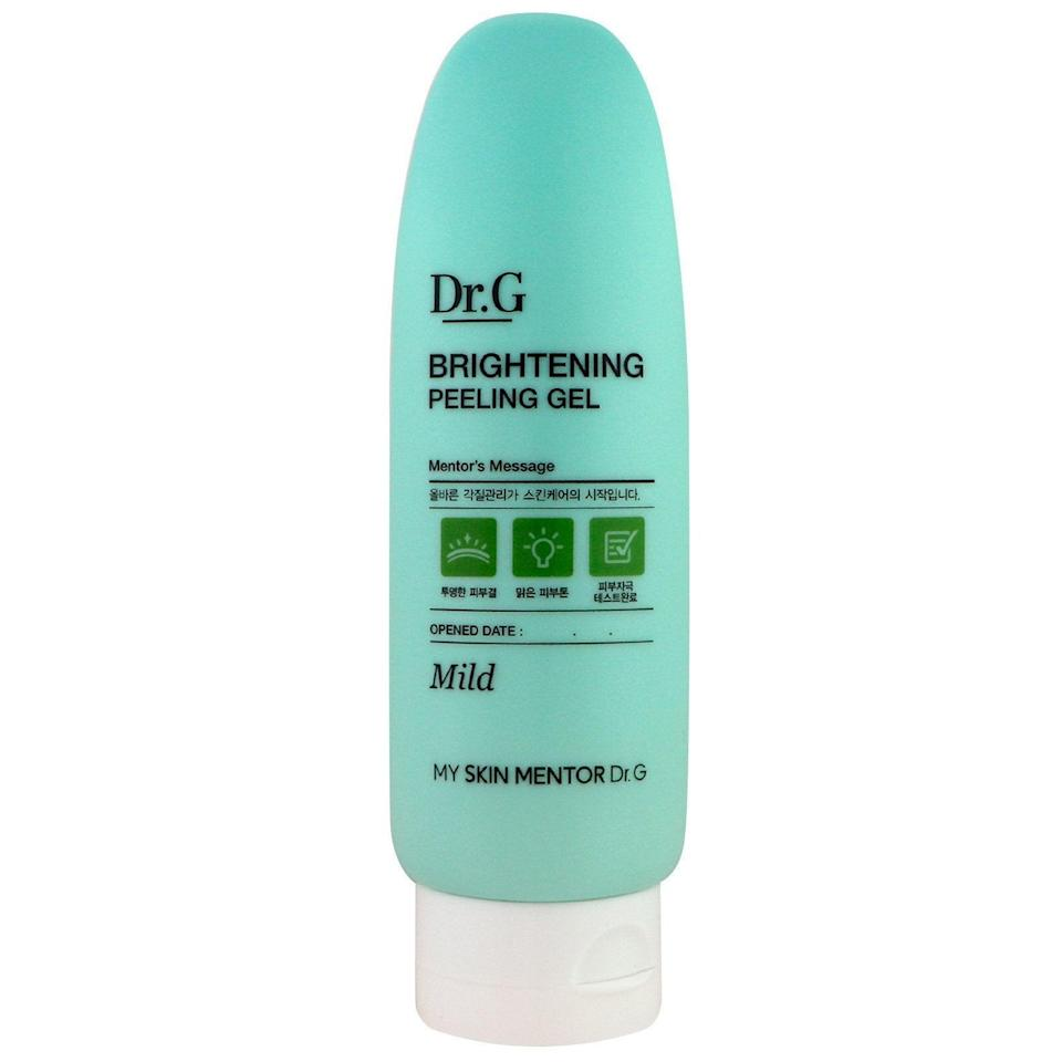 """<h3><a href=""""https://amzn.to/390e18s"""" rel=""""nofollow noopener"""" target=""""_blank"""" data-ylk=""""slk:Dr.G Brightening Peeling Gel"""" class=""""link rapid-noclick-resp"""">Dr.G Brightening Peeling Gel</a></h3><br><strong>Lauryn</strong><br><br><strong>How She Discovered It:</strong> """"I literally don't remember. I've been trying to reverse-engineer this search for years — maybe from an old R29 article?"""" <br><br><strong>Why It's A Hidden Gem:</strong> """"I have literally never had an exfoliant that works SO well but is so gentle on my face. It feels amazing. I use it twice a week in the shower and the dead skin literally balls up and rolls off my face (gross, but amazing — like <a href=""""https://amzn.to/3dafzzU"""" rel=""""nofollow noopener"""" target=""""_blank"""" data-ylk=""""slk:Baby Foot"""" class=""""link rapid-noclick-resp"""">Baby Foot</a> for your face). It lasts me for months and makes my skin so soft and smooth! Also, once my roommate had a friend over who knocked the bottle off the shelf in the shower and I came home to it exploded on the floor and reacted in much the same way someone would react if they came home to a murder scene. Tears.""""<br><br><strong>Dr. G</strong> Brightening Peeling Gel, 4.2 Ounce, $, available at <a href=""""https://amzn.to/390e18s"""" rel=""""nofollow noopener"""" target=""""_blank"""" data-ylk=""""slk:Amazon"""" class=""""link rapid-noclick-resp"""">Amazon</a>"""