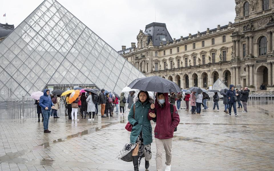The Louvre, closed to all visitors, in Paris - Adrienne Surprenant