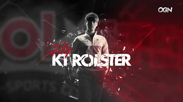 """KT Rolster mid laner Song """"Fly"""" Yong-jun in the 2015 LCK Summer introduction (OnGameNet/Twitch)"""