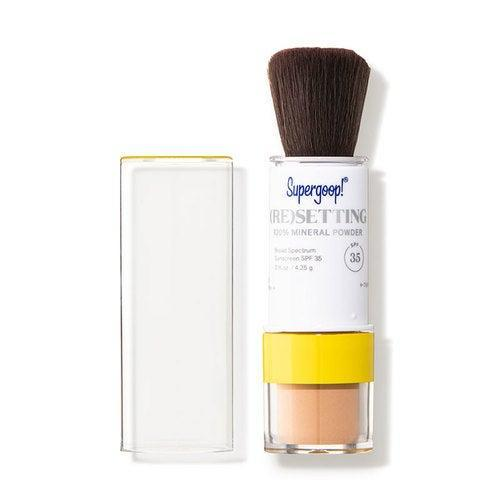 """<br><br><strong>Supergoop!</strong> (Re)setting 100% Mineral Powder SPF 35, $, available at <a href=""""https://go.skimresources.com/?id=30283X879131&url=https%3A%2F%2Fshop-links.co%2F1738887589576654091"""" rel=""""nofollow noopener"""" target=""""_blank"""" data-ylk=""""slk:DermStore"""" class=""""link rapid-noclick-resp"""">DermStore</a>"""