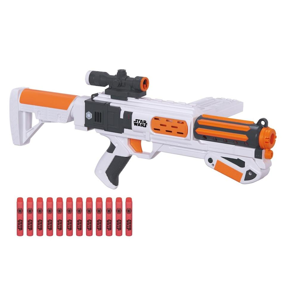 <p>Nerf has made a 'Star Wars' fan-friendly deluxe blaster that fires up to 65 feet. </p>
