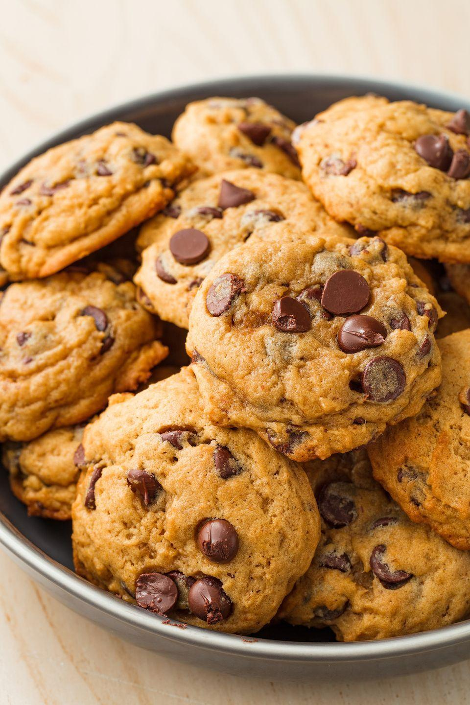 """<p>Baking these ALL season.</p><p>Get the recipe from <a href=""""https://www.delish.com/cooking/recipe-ideas/recipes/a55742/pumpkin-spice-chocolate-chip-cookies-recipe/"""" rel=""""nofollow noopener"""" target=""""_blank"""" data-ylk=""""slk:Delish"""" class=""""link rapid-noclick-resp"""">Delish</a>.</p>"""