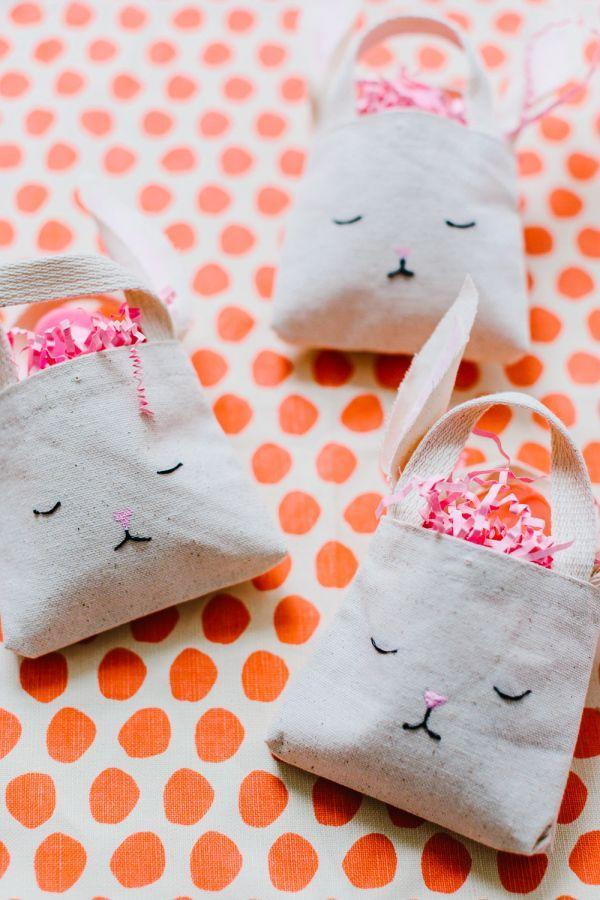 """<p>These mini totes are perfect for babies who aren't quite ready to participate in the family's annual egg hunt. </p><p><em><a href=""""http://www.stylemepretty.com/living/2015/03/28/diy-mini-bunny-bag/"""" rel=""""nofollow noopener"""" target=""""_blank"""" data-ylk=""""slk:Get the tutorial from Style Me Pretty Living »"""" class=""""link rapid-noclick-resp"""">Get the tutorial from Style Me Pretty Living »</a></em> </p>"""