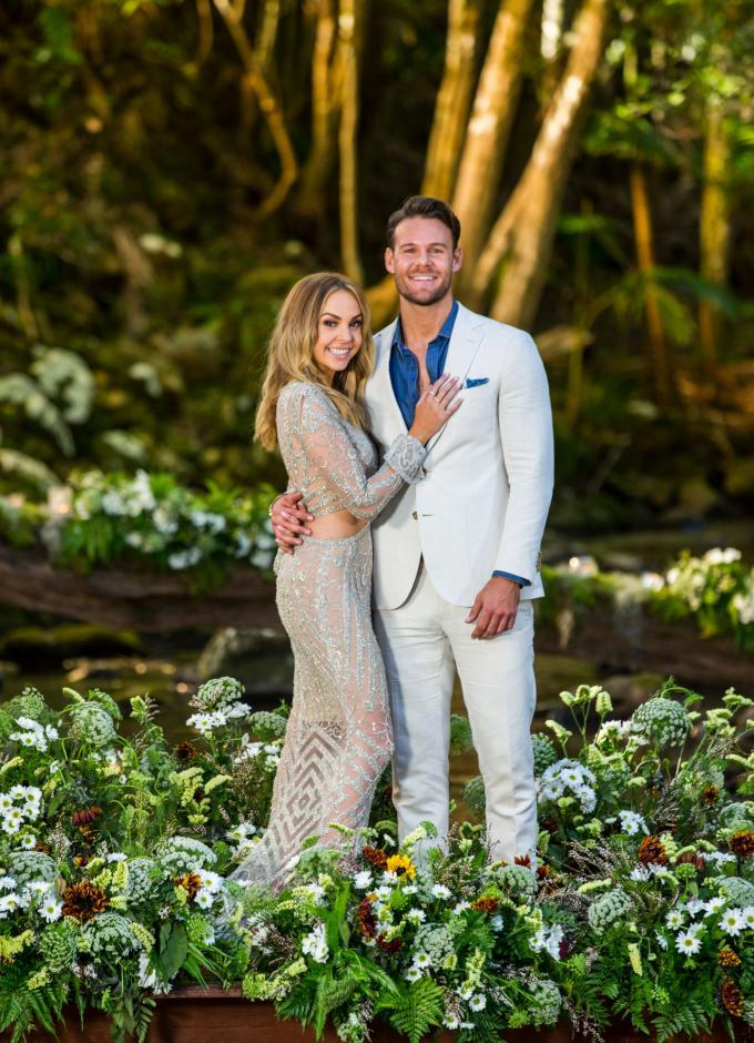 Angie and her Bachelorette beau, Carlin Sterritt, broke up in July. Photo: Channel 10.