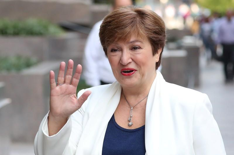 International Monetary Fund Managing Director Georgieva arrives for her first day in her new post at IMF headquarters in Washington