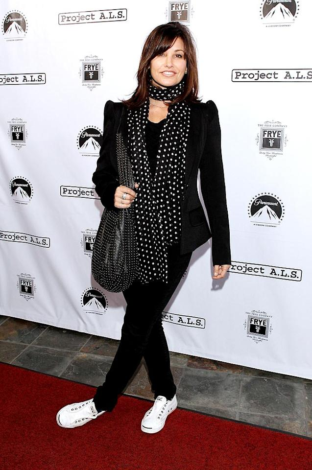 "A long time supporter of the cause, Gina Gershon has commented in the past, ""I'm involved in Project A.L.S. which is trying to get money for stem cell research. If you can cure [A.L.S], you can cure so many other diseases."" Todd Williamson/<a href=""http://www.wireimage.com"" target=""new"">WireImage.com</a> - April 21, 2010"