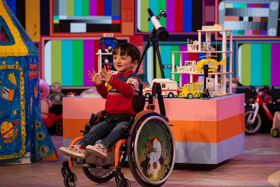 Adam appearing on the Late Late Toy Show last week (Andres Poveda/PA)